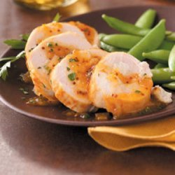 Chevre-Stuffed Chicken with Apricot Glaze recipe
