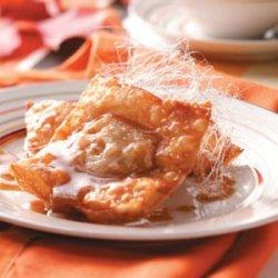 Pumpkin Wontons with Butterscotch Sauce recipe
