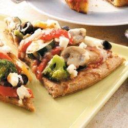 Pesto Veggie Pizza recipe