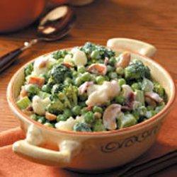 Green Pea Salad for 2 recipe