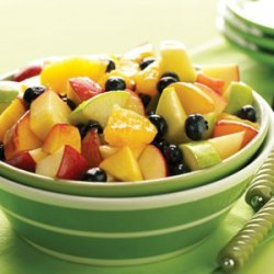 Fruit Salad with O.J. Reduction recipe