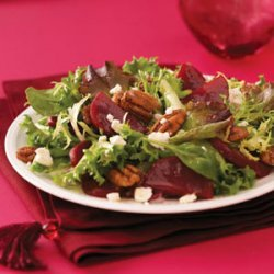 Spring Greens with Beets and Goat Cheese recipe