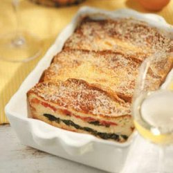 Spinach and Tomato Strata recipe
