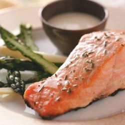 Grilled Salmon with Garlic Mayo recipe