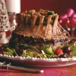 Crown Roast with Broccoli Mushroom Stuffing recipe