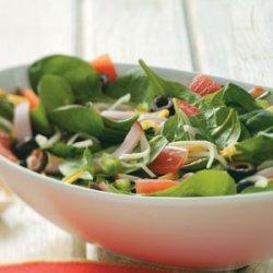 Pizza Salad with Tomato Vinaigrette recipe