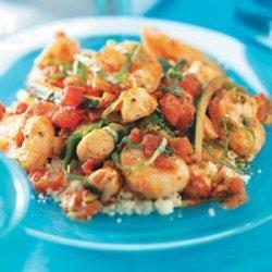 Shrimp and Scallop Couscous recipe