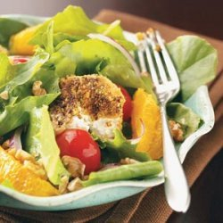 Salads with Pistachio-Crusted Goat Cheese recipe