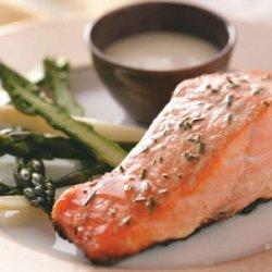 Grilled Salmon with Garlic Mayo for 2 recipe