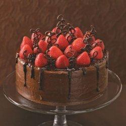 Chocolate-Strawberry Celebration Cake recipe
