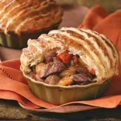 Herbed Beef Stew with Puff Pastry recipe
