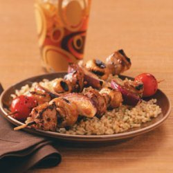 Teriyaki Pork Kabobs for Two recipe