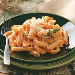 Pasta with Creamy Sweet Potato Sauce recipe