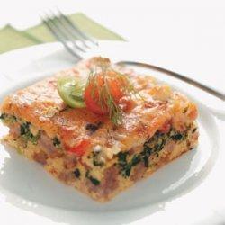 Spinach & Sausage Egg Bake recipe