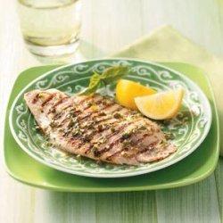 Grilled Tilapia with Lemon Basil Vinaigrette recipe