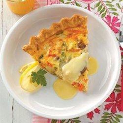Crab Quiche with Hollandaise recipe