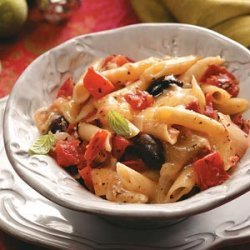 Hearty Tomato-Olive Penne recipe
