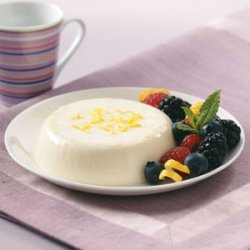 Lemon Panna Cotta with Berries recipe
