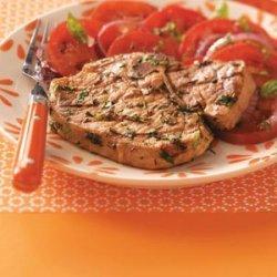 Pork Chops with Herb Pesto recipe