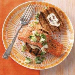 Salmon & Slaw Sliders for Two recipe