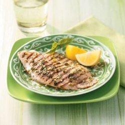 Grilled Tilapia with Lemon Basil Vinaigrette for Two recipe