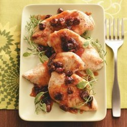 Chicken Cutlets with Citrus Cherry Sauce recipe