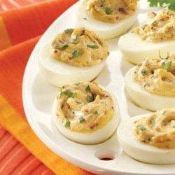 Smokin' Hot Deviled Eggs recipe