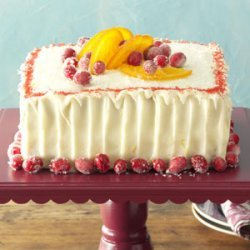 Cranberry Cake with Tangerine Frosting recipe