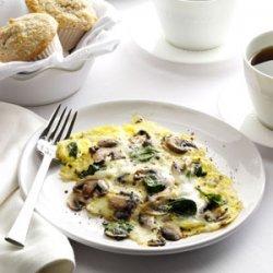 Spinach-Mushroom Scrambled Eggs recipe