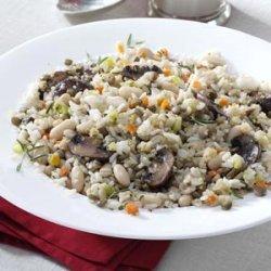 Lentil White Bean Pilaf recipe