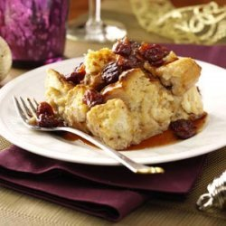 White Chocolate Bread Pudding with Tart Cherry Sauce recipe