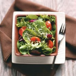 Green Salad with Tangy Basil Vinaigrette for Two recipe