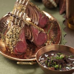 Herb-Crusted Rack of Lamb with Mushroom Sauce recipe