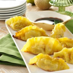 Sweet Potato Pot Stickers recipe