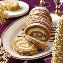 Pumpkin-Toffee Cake Roll recipe