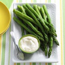 Asparagus with Horseradish Dip recipe