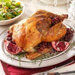 Roast Turkey with Sausage-Cabbage Stuffing recipe