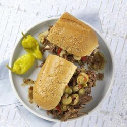 Mom's Italian Beef Sandwiches recipe