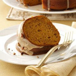 Pumpkin Spice Cake with Maple Glaze recipe