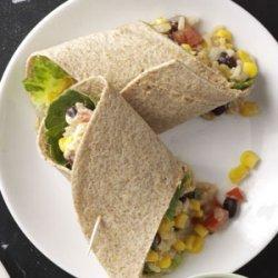 Easy Southwestern Veggie Wraps recipe