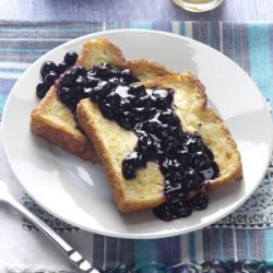 Baked French Toast with Blueberry Sauce recipe