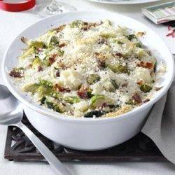 Brussels Sprouts & Cauliflower Gratin recipe
