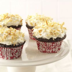 Chocolate Angel Cupcakes with Coconut Cream Frosting recipe