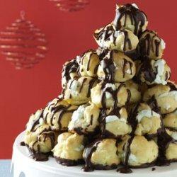 Creme de Menthe Cream Puff Tree recipe