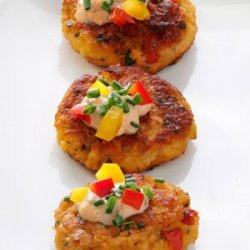 Seafood Cakes with Herb Sauce recipe