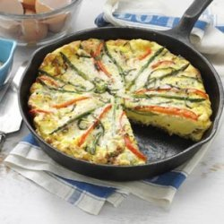 Asparagus and Red Pepper Frittata recipe