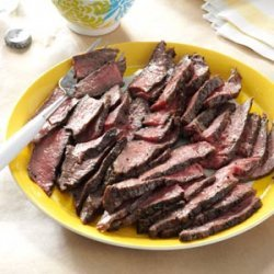 Grilled Steaks with Cilantro Sauce recipe
