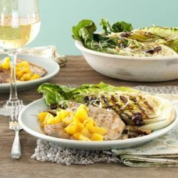 Grilled Pork Chops with Peach Sauce recipe