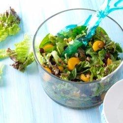 Cranberry Mandarin Salad with Walnut Vinaigrette recipe