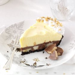 Chocolate & Peanut Butter Pudding Pie with Bananas recipe